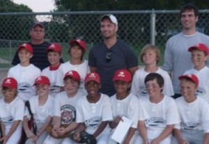 Justin Tymes and little league team